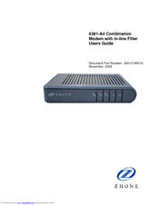ZHONE 6381-A4-200 USER MANUAL Pdf Download