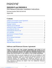 Zhone DNE4500-S Installation Instructions Manual