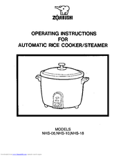 zojirushi nhs 10 manuals rh manualslib com zojirushi rice cooker neuro fuzzy instruction manual Rice Cooker Recipes