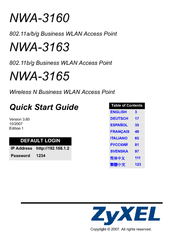 Zyxel communications nwa 3163 manuals zyxel communications nwa 3163 quick start manual sciox Choice Image