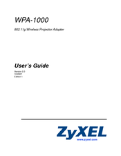 Zyxel Communications WPA-1000 Manuals