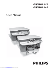 PHILIPS CRYSTAL 650 - NETWORK User Manual