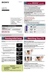 sony bravia kdl 42ex441 manuals rh manualslib com Brother Printer Quick Setup sony tv quick setup guide
