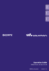 Sony Walkman NWZ-A726 Operation Manual