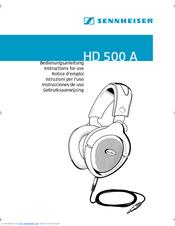 sennheiser hd 500a manuals rh manualslib com sennheiser srs headphones manual sennheiser headphones rs 185 manual