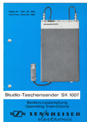 sennheiser 100 g3 spec pdf