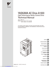yaskawa a1000 manuals manuals and user guides for yaskawa a1000 we have 2 yaskawa a1000 manuals available for pdf technical manual quick start manual