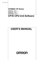 OMRON CP1E CPU UNIT SOFTWARE USER MANUAL Pdf Download