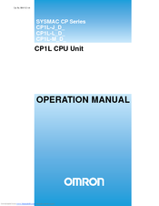 OMRON CP1L OPERATION MANUAL Pdf Download