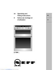 neff u 1644 series manuals rh manualslib com neff oven b1542 instruction manual neff cooker hood instruction manual