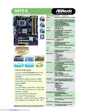 Asrock G41C-S Descargar Controlador