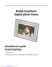 kodak p720 easyshare digital frame manuals rh manualslib com kodak easyshare sv1011 digital picture frame manual kodak easyshare d1025 digital picture frame instructions
