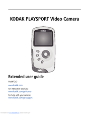 kodak playsport zx3 manuals rh manualslib com Kodak PlayTouch Kodak PlayTouch