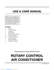 Frigidaire 000 BTU Air-Conditioner Use And Care Manual