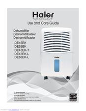 haier de65ek l manuals rh manualslib com Model Manual Hyer Dehumidifier 45Ea-L Haier 32 Pint Dehumidifier