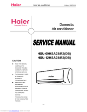 HAIER HSU-12HSA03 SERVICE MANUAL Pdf Download. on