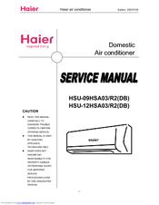 HAIER HSU-12HSA03 SERVICE MANUAL Pdf Download. on