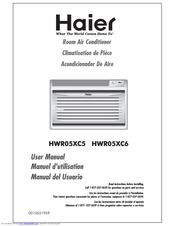 haier hwr05xc6 5200 btu electronic control room air conditioner rh manualslib com Haier Portable Air Conditioner Manual Haier Air Conditioners User Manuals