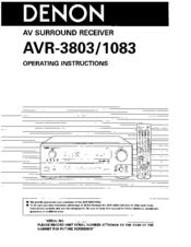 denon avr 3803 manuals rh manualslib com denon amplifier instruction manual denon amplifier instruction manual