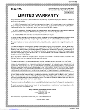 Sony STR-K700 - Fm Stereo/fm-am Receiver Limited Warranty