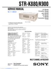 sony str k900 fm stereo fm am receiver manuals. Black Bedroom Furniture Sets. Home Design Ideas