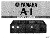 Yamaha A-1 Owner's Manual