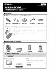 Yamaha htr 3064 manuals for Yamaha htr 3066 specs