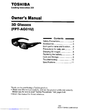 Toshiba FPT-AG01 Owner's Manual