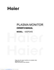 haier 42ep24s owner s manual pdf download rh manualslib com Haier Wine Cooler HVUE08ABS User Manual Haier Washing Machine Manual