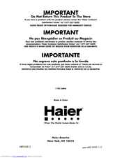 HAIER HBF05E Manual