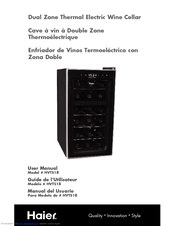 haier hvts18dabb dual zone wine cooler manuals rh manualslib com haier wine cooler hvf042abl manual haier wine cooler manual hvdw20abb