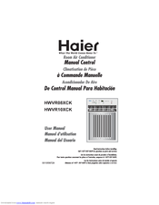haier hwvr08xck user manual pdf download rh manualslib com User Training Example User Guide