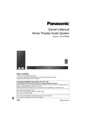 panasonic sc htb520 owner s manual pdf download rh manualslib com Panasonic Sound Bar Htb 170 panasonic soundbar htb520 manual