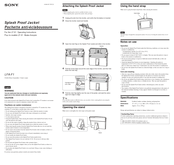 Sony LF-X1, LF-X5 Operating Instructions