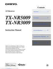 onkyo tx nr3009 instruction manual pdf download rh manualslib com onkyo tx nr3009 specs onkyo tx-nr3009 service manual