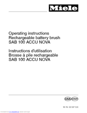MIELE SAB100 ACCU NOVA Operating Instructions Manual