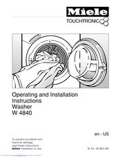 Miele W 4840 WASHING MACHINE Manuals