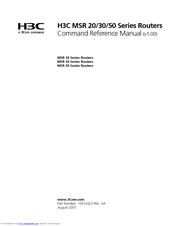 H3C MSR 20-20 COMMAND REFERENCE MANUAL Pdf Download