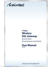 Actiontec GT704-WG Manuals