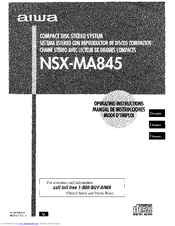 Aiwa CX-NMA845 Operating Instructions Manual