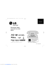 LG BD270 -  Blu-Ray Disc Player Owner's Manual