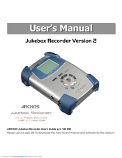 ARCHOS JUKEBOX RECORDER V2 WINDOWS 10 DRIVER