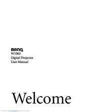 benq w1060 manuals rh manualslib com benq w1060 user manual Operators Manual