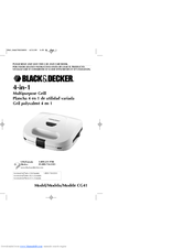 Black & Decker CG41 Use And Care Book Manual