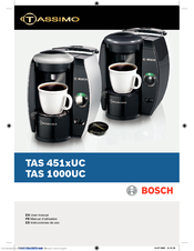 Tassimo Coffee Maker Instruction Manual : Bosch TAS1000UC - Tassimo Single-Serve Coffee Brewer Manuals