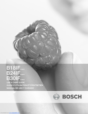 Bosch B18IF Series Use And Care Manual