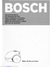 Bosch BSA2200UC - Compact Plus - Health Guard Vacuum Cleaner Use And Care Manual