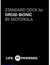 MOTOROLA DROID BIONIC - CHARGING DOOR Manual