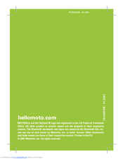 motorola motostart h350 manuals rh manualslib com Motorola Bluetooth Earpiece Hooks Motorola Bluetooth Headset