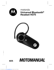 motorola h375 headset over the ear manuals rh manualslib com motorola h375 user manual Pass Key Motorola H375